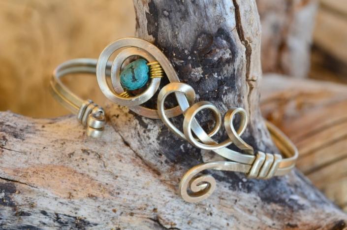Bijoux d'Artisamor - Bracelet - Argent - Alliage - Turquoise